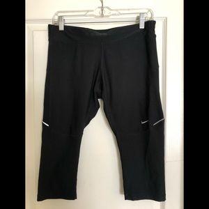 Nike Dri-Fit Running Pants- Size L- 3/4 Length